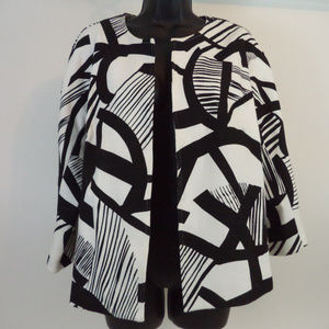 Chico's Women's Black/White Jacket 2 CL1259 0719